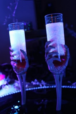 Halloween Glow in the Dark Spooky Drinks WITH blacklight