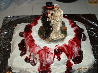 Halloween Cake Or Halloween Wedding Cake