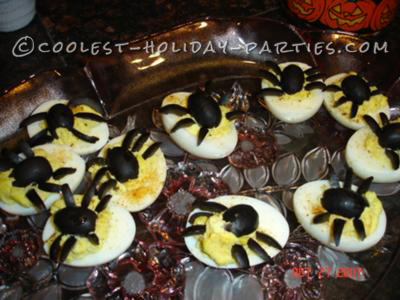 Spidery Deviled Eggs